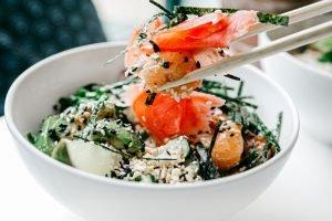 salmon and seaweed bowl
